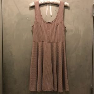 Free People Polka Dot Skater Dress, Small